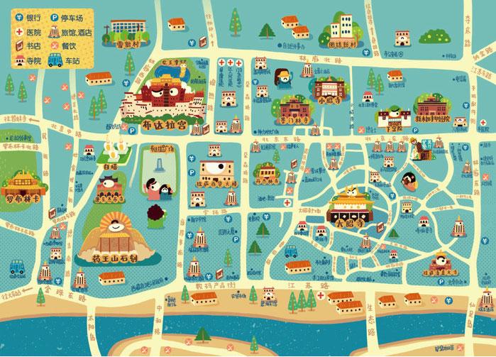 03拉萨旅游地图
