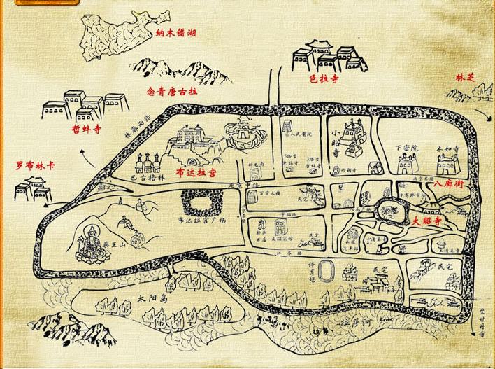 查看拉萨市区地图大图          作为通往西藏其他地区地区的枢纽城市