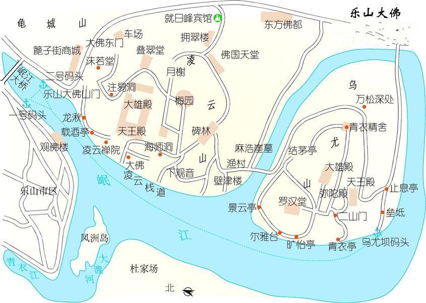 乐山旅游地图乐山大佛地图